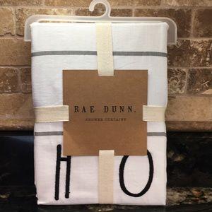 New Rae Dunn HOME Gray Plaid Shower Curtain
